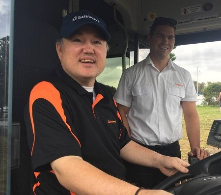 Brendan Hall's dream is to be a bus driver