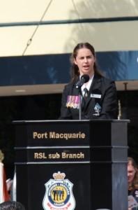 Elizabeth Pike ANZAC Day speech